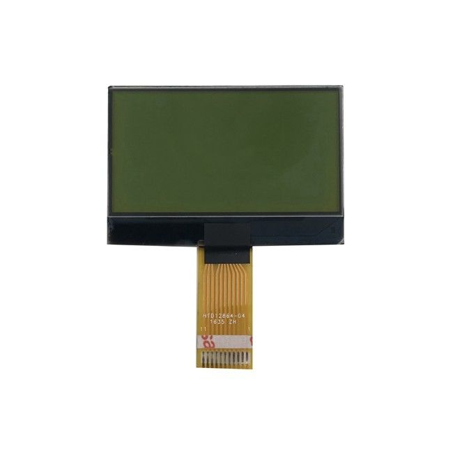 White Fond Yellow - Green Background Stn Lcd Module Type COG Lcd Display 12864